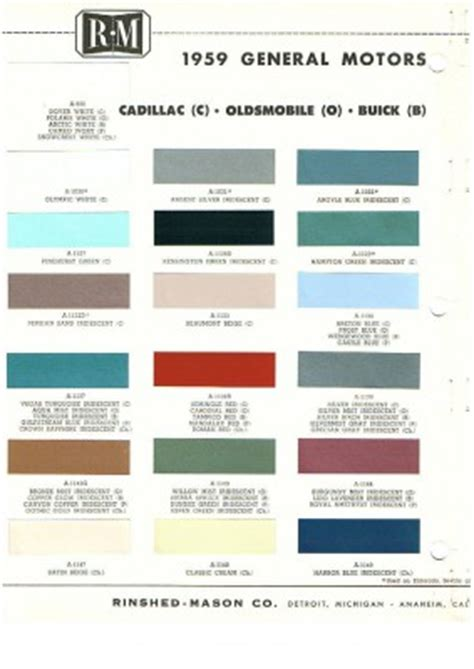 pontiacregistry view topic 1959 pontiac exterior colors all models