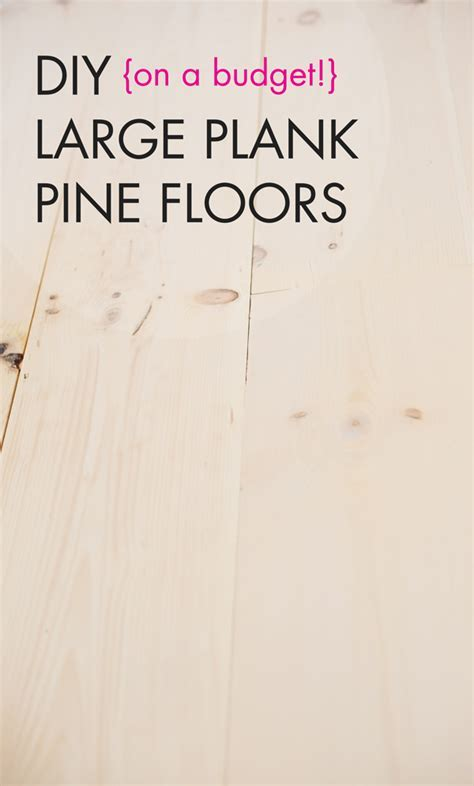DIY White Washed Wide Plank Wood Floors ? A Subtle Revelry