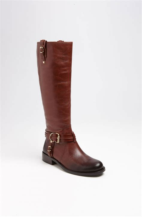 vince camuto boots vince camuto kabo boot in brown rich cocoa lyst