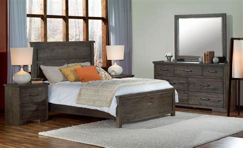 5 piece queen bedroom set pine ridge 5 piece queen bedroom set slate leon s