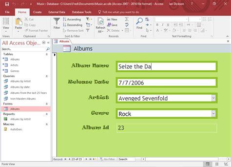 design form database adding data to a database