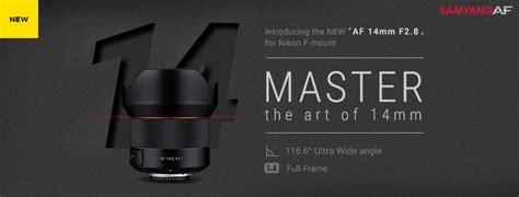 Samyang 14mm F 2 8 Lens For Nikon samyang af 14mm f 2 8 f lens for nikon f mount announced