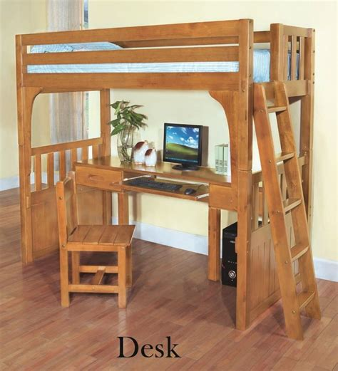 Bunk Bed With A Desk Discovery World Furniture Desk Honey Convertible Bunk Bed With Chair Bookcase