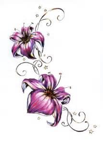Tattooed Flower Vase Flower Tattoo Ideas