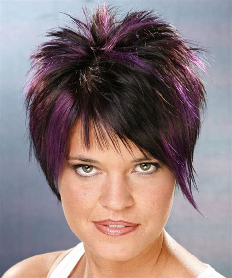 hair styles with ur face in it purple hair color highlights styles for short hair 26