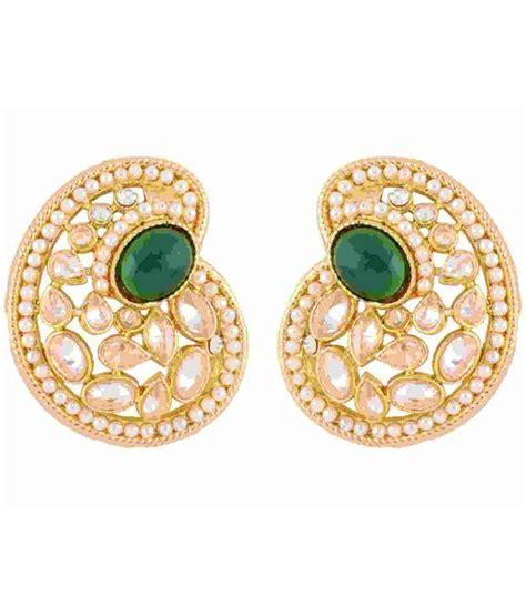 Kotak Perhiasan Big Box For Jewellery Green I2238 the jewelbox paisley green gold plated kundan american ethnic earring buy the jewelbox