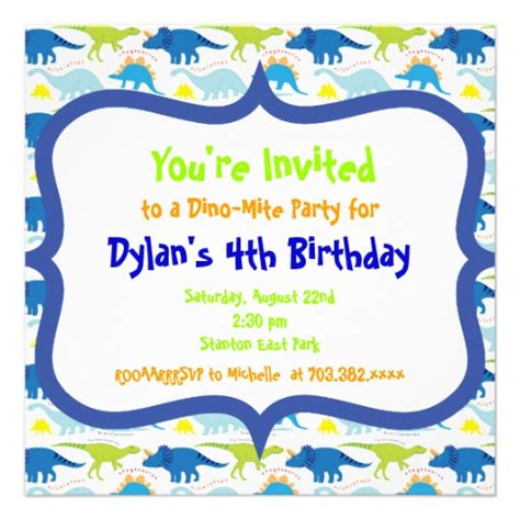 dinosaur invitation templates dinosaur birthday invitation templates 5 25
