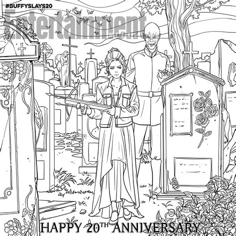 coloring pages buffy the vire slayer buffy the vire slayer celebrate the 20th anniversary