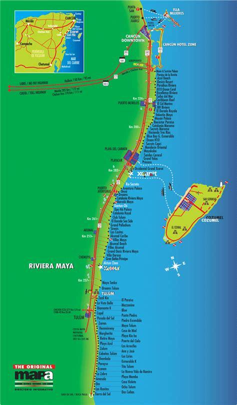 maps cancun maps cancun cozumel playa riviera