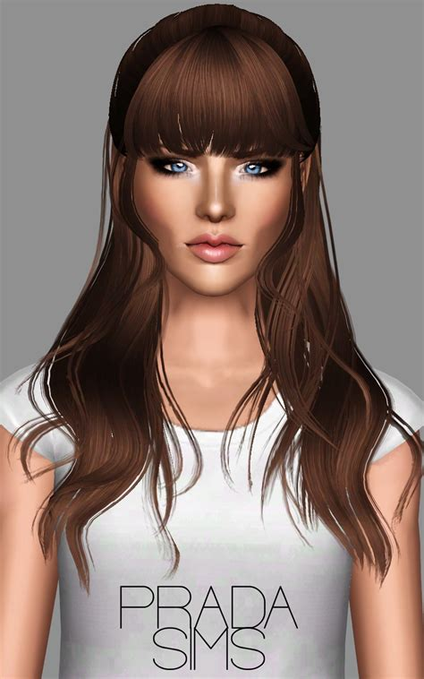 long hair with bangs sims2 pradasims 2 newsea retextures updated