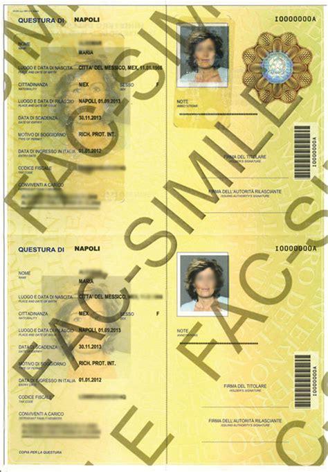 nuova lista permesso di soggiorno pi 249 difficile falsificare il permesso di soggiorno west