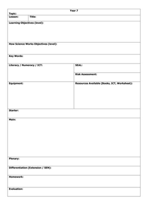 lesson plan template ht by harrisschool teaching