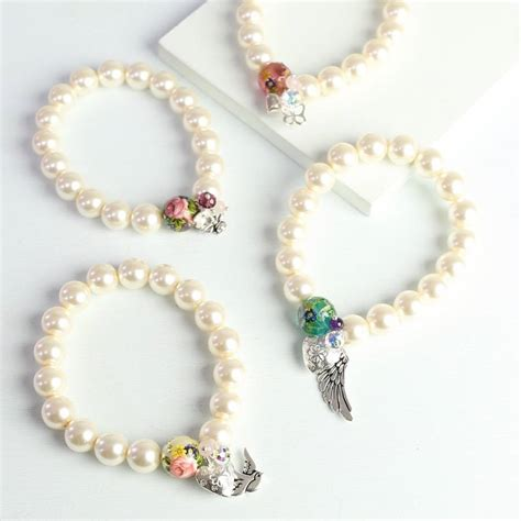Handmade Pearl Bracelets - handmade pearl charm bracelet by