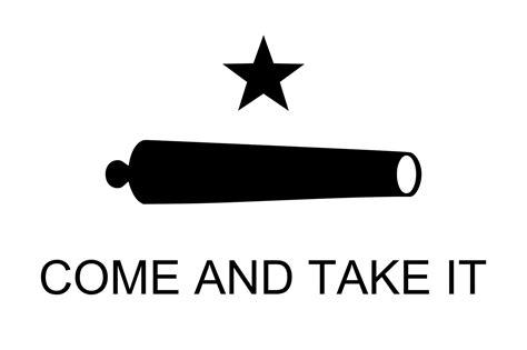 Texas Flag Come and Take It Public Domain Clip Art Photos