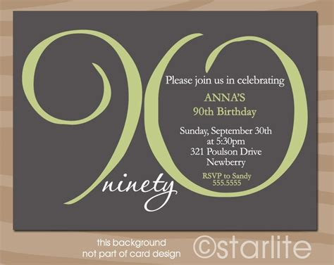 90th birthday invitations templates 90th birthday invitations birthday invitations