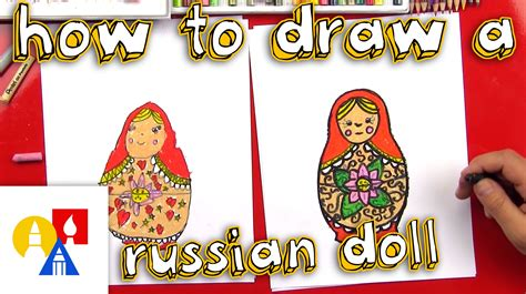 russian doll lesson how to draw a russian nesting doll