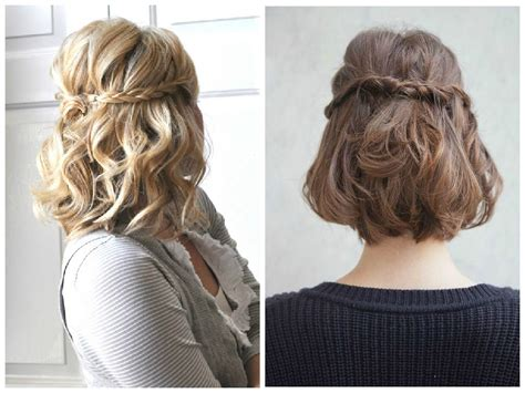 hairstyles down short half up down hairstyles for short hair hairstyles