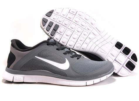 grey black white nike free 4 0 v3 s running shoes