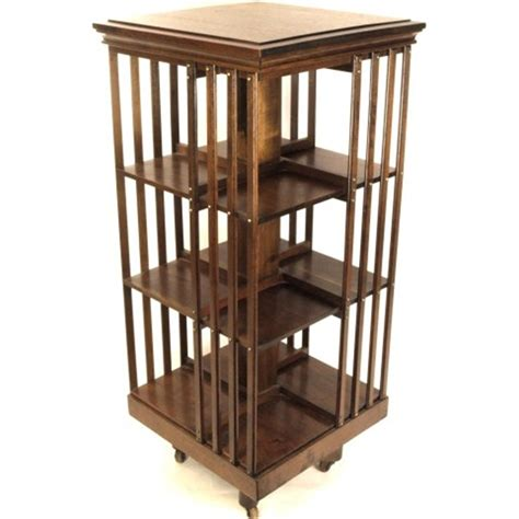 Revolving Bookcase by Antique Mahogany Danner Style Revolving Bookcase