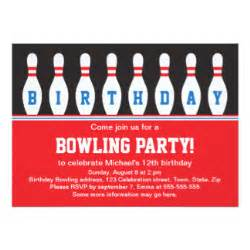 bowling party invitations amp announcements zazzle