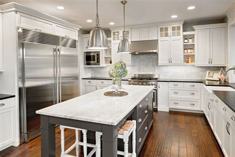 white and black kitchen island with cherner counter stools gorgeous contrasting kitchen island ideas pictures