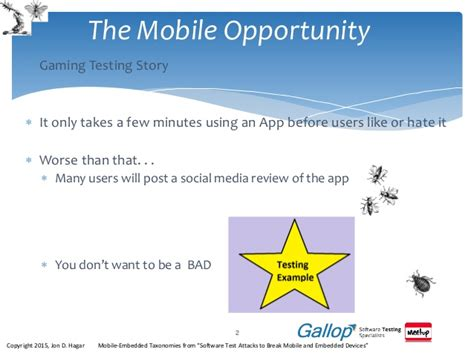 mobile tester exploratory testing and the mobile tester a presentation