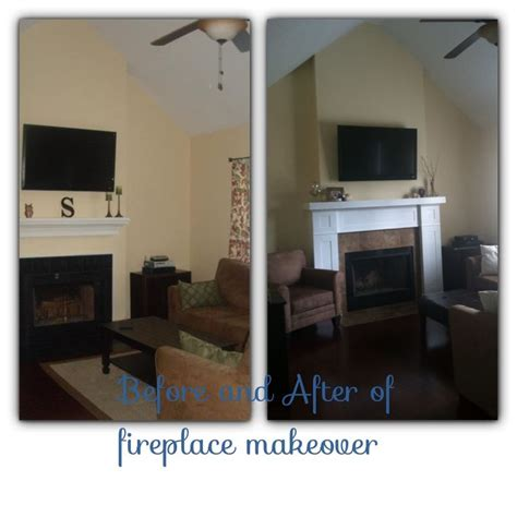 before and after fireplace makeovers before and after diy fireplace makeover home