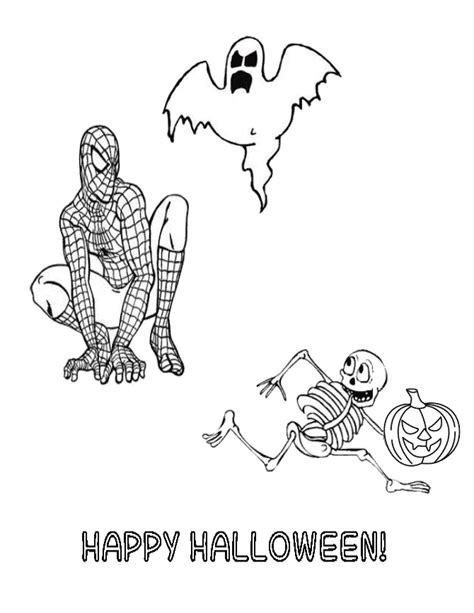 spiderman halloween coloring page spiderman halloween coloring pages
