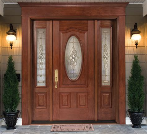 Front Door Insert Single Fiberglass Door With Doorlite 2 Sidelites Decorative Glass Inserts