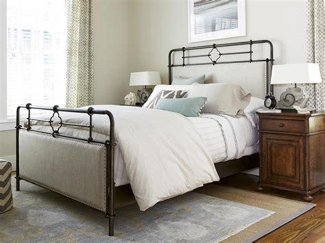 paula deen bed universal furniture dogwood paula deen home upholstered metal bed queen