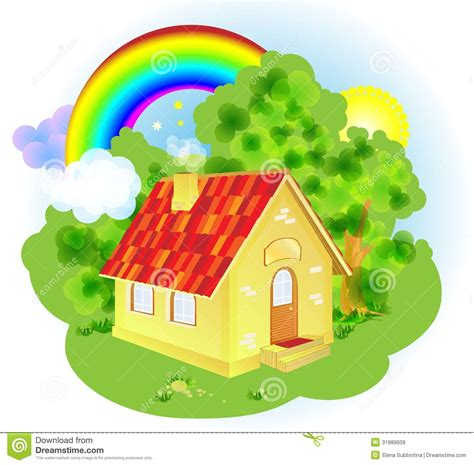 House Beautiful Subscription by A Cute Cartoon Fairytale House Royalty Free Stock Images