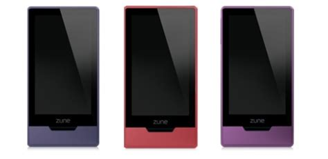 New Zunes This Month by Zune Hd Getting Colorful Update December 1st Slashgear