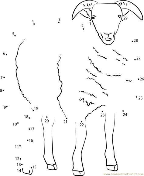 printable dot to dot sheep sheep dot to dot printable worksheet connect the dots