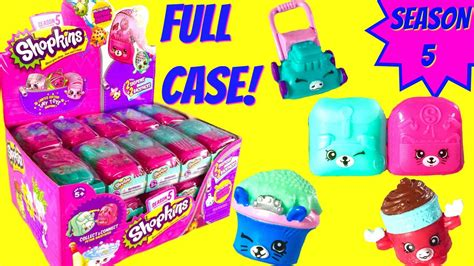 shopkins season 5 opening unboxing petkins