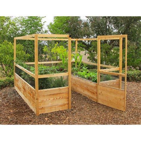 gardens to gro 8 x 8 ft deer proof vegetable garden kit