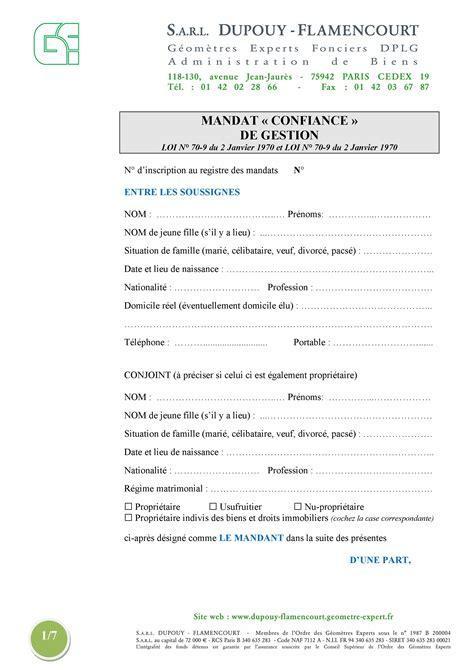 Lettre De Résiliation Mandat Immobilier Modele Lettre Resiliation Mandat De Gestion Locative Document