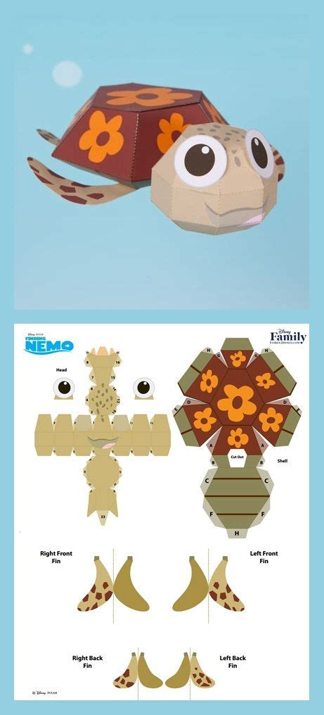 Turtle Papercraft - 3d papercraft 3d craft printable paper and