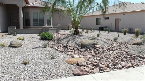 rock mulch landscape landscaping river rocks garden design