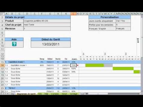 créer un diagramme de gantt dans excel 2010 create a gantt with excel creer un planning avec excel