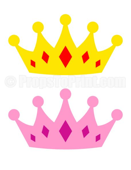 printable disney crown printable crown photo booth prop create diy props with