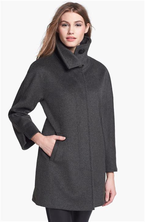 ellen tracy wool blend swing coat ellen tracy wool blend aline coat in gray spruce lyst