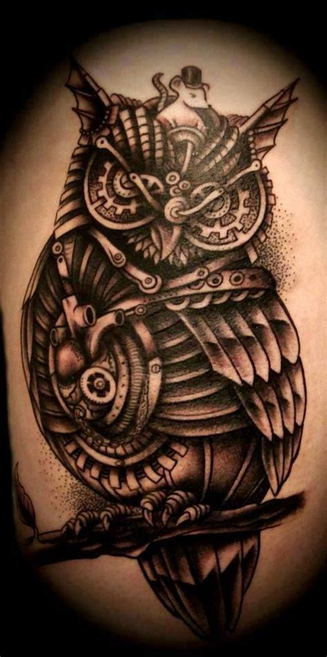 tattoo owl love mechanical black owl tattoo i fucking love tattoos