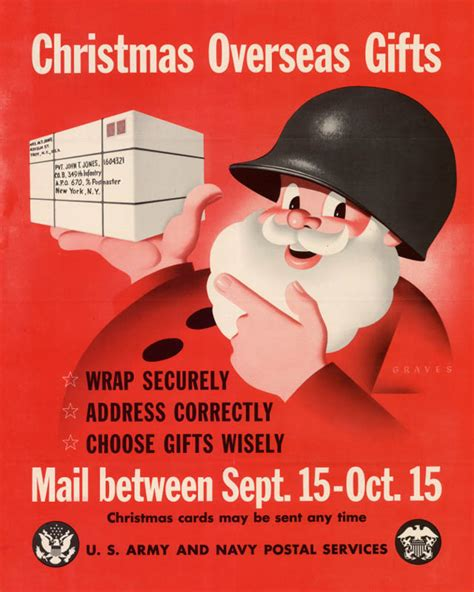christmas overseas gifts ww2 images