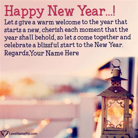 write name on new year wishes friends and family picture