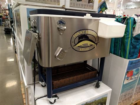 tommy bahama stainless steel cooler on wheels patio cooler on wheels costco crunchymustard