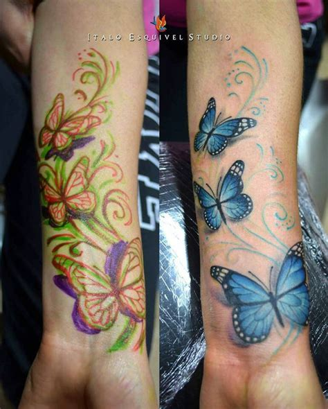 butterfly cover up tattoos idea for a cover up on my wrist ideas