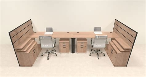 Two Person Modern L Shaped Workstation Office Desk Set 2 Person L Shaped Desk