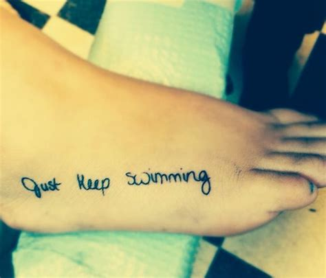 swimming tattoos finding nemo disney ink fonts