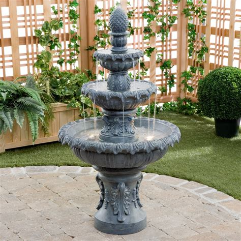 patio fountains kenroy costa brava outdoor fountains at hayneedle