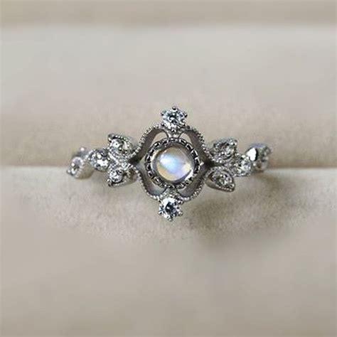 Vintage Rings by Vintage Moonstone Engagement Rings Www Imgkid The